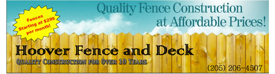Hoover fence and deck